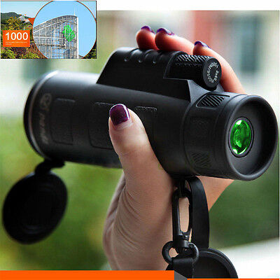 Super High Power 40X60 Portable HD OPTICS BAK4 Night Vision Monocular Telescope