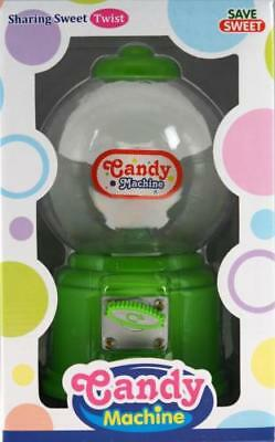 Green 27cm Gumball Dispenser Retro Style Machine - Jelly Beans / Bubble Gum