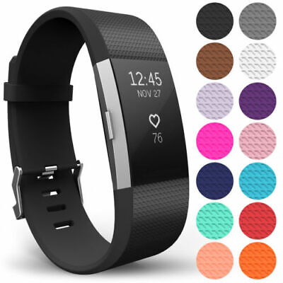 For FitBit Charge 2 Watch Strap Replacement Band Classic Metal Buckle Wristband