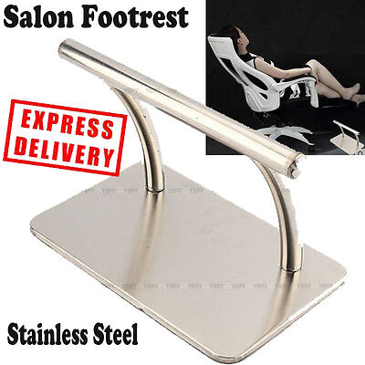 Heavy Duty Stainless Steel Barbers Footrest For Hair Beauty Salon Foot Rest Top
