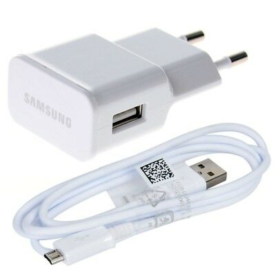 Cargador Original Samsung Galaxy S2 S3 S4 S6 Mini Note 2 4 ACE Micro USB Blanco