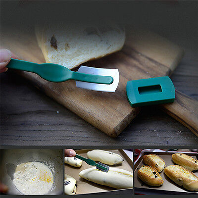 Hand Crafted Bread Baking Knife Included with Authentic Leather Protective Cover