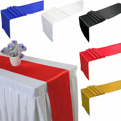 Satin Table Runners 30X250Cm Wedding Banquet Decoration