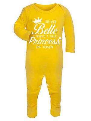 Step Aside Belle Disney Inspired Baby  Babygrow Beauty and the Beast