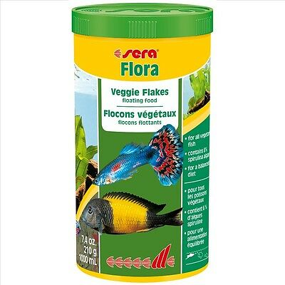 Sera Flora The herbal food consisting of floating flakes 250ml 1000ml