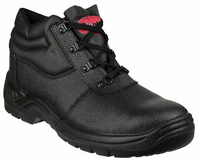 New Mens Chukka Safety Steel Toe Cap Work Boots Leather Hiking Shoes Uk Sizes