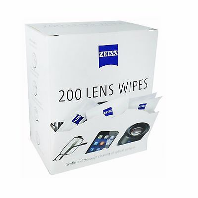New Zeiss Lens Cleaning Wipes Pre Moist Sachet 200 Pack Glasses Optical Smear