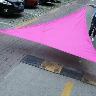 Sun Shade Sail Triangle Canopy - UV Block Fabric Durable Outdoor 3 Colors