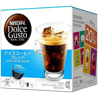 Nestle Japan Nescafe Dolce Gusto Iced Coffee Blend Flavor Capsules Pods 16P