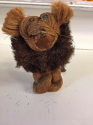 Vintage 1960s MCM Rope Knotted Lion Figure Zoo Animal Mid Century Africa Wilde