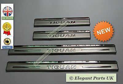New Volkswagen Tiguan Stainless Door Sills Scuff Plate Guards Protector 2010-17