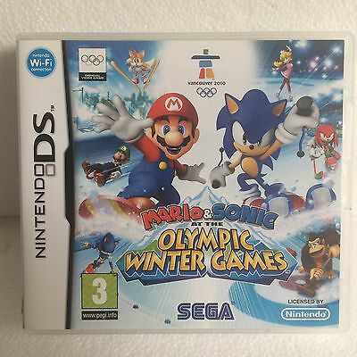Nintendo ds game mario & sonic Olympic Winter Games complete