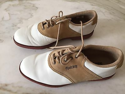 FootJoy Golf Shoes Womens Cream & Beige Size 6.5