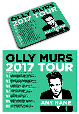Personalised Olly Murs 2017 Tour Printed Mousemat Mouse Mat Pad Any Name