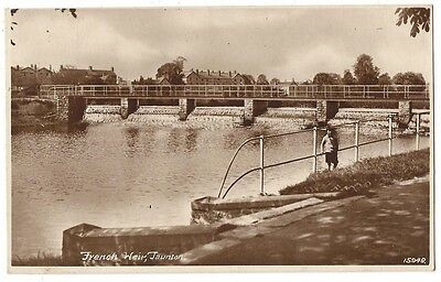 TAUNTON French Weir, Old Postcard Postally Used 1928