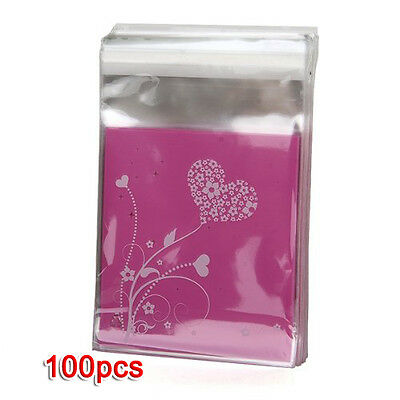100pcs Clutch bag Purple HEART Bag of Candy Biscuits Gift