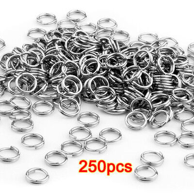 250 pcs Jump Rings 5mm Stainless Steel Eyelets Silver Metal Rings New TOP