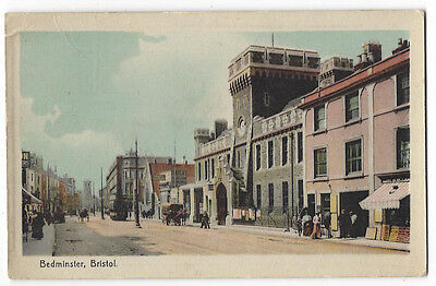 BEDMINSTER Bristol, The Police Station, Old Postcard by WHS&S, Postally Used