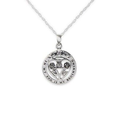 Mary Queen Of Scots Silver Round Pendant 9628