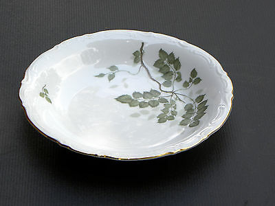 "GREEN LEAVES by MITTERTEICH FINE BAVARIAN CHINA ~ 7 7/8"" Coupe Soup ~ GERMANY"