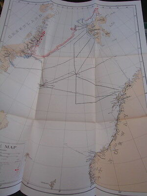 Maps of Northeast Greenland, Spitsbergen, Jan Mayen Arctic -MUST SEE- book -1948