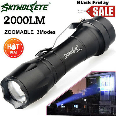 MINI LED 2000LM CREE Q5 AA/14500 3Mode ZOOM Super Bright Flashlight Police Torch