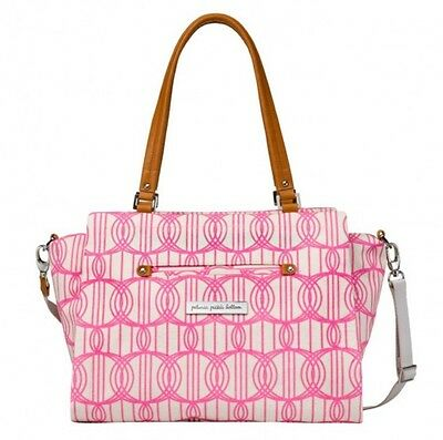 Petunia Pickle Bottom Statement Satchel Tote Diaper Bag Pink Hula Hoop
