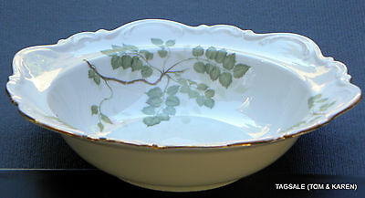 "GREEN LEAVES by MITTERTEICH ~ 9"" Round Vegetable Serving Bowl ~ Germany"