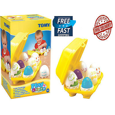 Tomy Toy Eggs Baby Pre-School & Young Children Play Learn Hide and Squeak NEW
