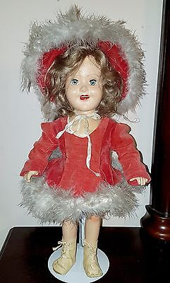 "Vintage Barbara Ann Scott Olympic Skater 1950 Reliable Composition 15"" Doll"