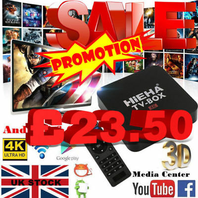 OEM 4K Pro Quad Core Smart Android TV Box 17.1 Media Player Free Sports Movies