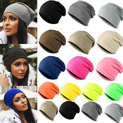 Outdoor Cool Punk Style Unisex Beanie Hat For Ladies Slouch Winter Cotton Cap UK