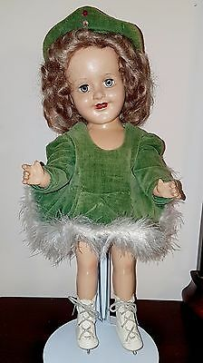 VINTAGE BARBARA ANN SCOTT OLYMPIC SKATER 1950 RELIABLE COMPOSITION 15 inch DOLL