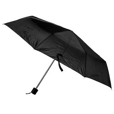 "Discounted Mini Umbrellas Black Rain Umbrella Cheap 42"" Mens/Womans"