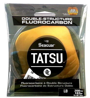 SEAGUAR TATSU FLUOROCARBON FISHING LINE - 200 YARDS - Select LB Test