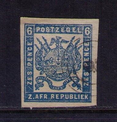 Transvaal Stamp SC #14 Imperf. Used Forgerie Cat.$140
