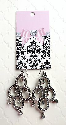 Boutique Earrings Displays Fashion Earrings Cards 70 Bow & Damask Earrings Cards