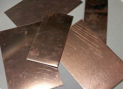 Copper Scrap - 5 Pounds - Squares & Rectangles -  FREE USA SHIPPING