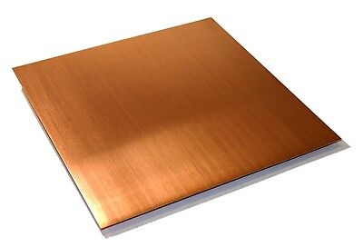"Copper Sheet .0216"" Thick - 16oz - 24 Ga - 24""x48"" - FREE 48 STATE SHIPPING"
