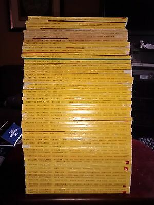 National Geographic Magazines Lot of 56 1970 - 1974