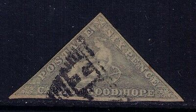 Cape of Good Hope 1857 Sc#6 , SG#8 Hope Seated Triangular Used Cat.$250
