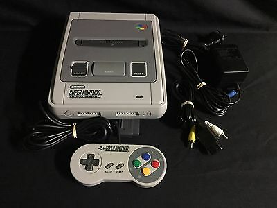Super Nintendo Console Package + 1 Controller & Leads + Warranty! Tested! SNES