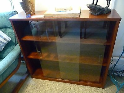 Glass Display Cabinet/Book Case Mid Century