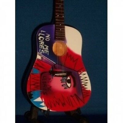 Mini Guitar COLDPLAY CHRIS MARTIN Don't Cry STATUETTE. Shipping is Free