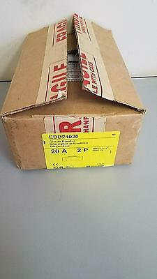 New  Square D Edb24020 2 Pole 20 Amp Circuit Breaker 480V