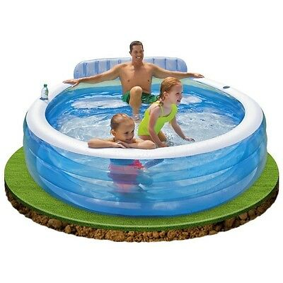 Piscina Hinchable Familiar con Sillon INTEX 224X216X76 cm