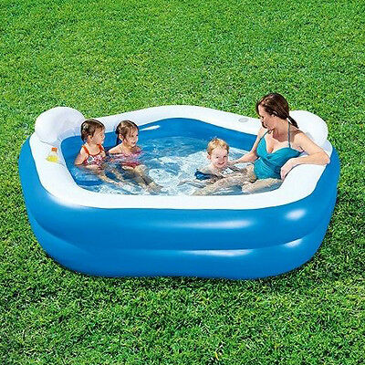 Piscina Familiar Hinchable Bestway con dos asientos 213X207X69 cm