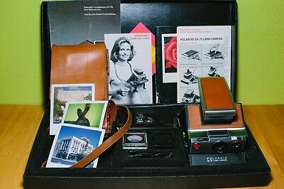 Vintage Polaroid SX-70 Presentation Set with Case and Accessories, Film Tested