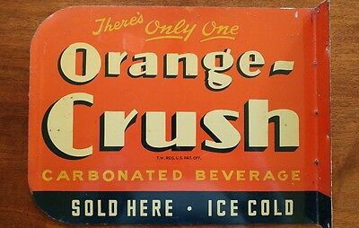 orange crush flange sign 1940s