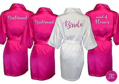 Personalized Wedding Robe / Dressing Gown Satin Bride BRIDAL SHOWER